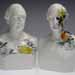 """Katie Parker and Guy Michael Davis, two busts: Alfonso Taft, 2011, porcelain and china paint, 12"""" x 7"""" x 5 1/2"""" each. Photo courtesy of Taft Museum of Art."""