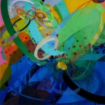 New Paintings by Kim Krause - Part of the Exhibition Slide at The Fitton Center (Hamilton)