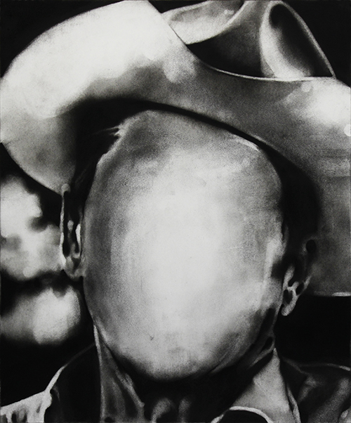 Midnight Cowboy, charcoal on paper