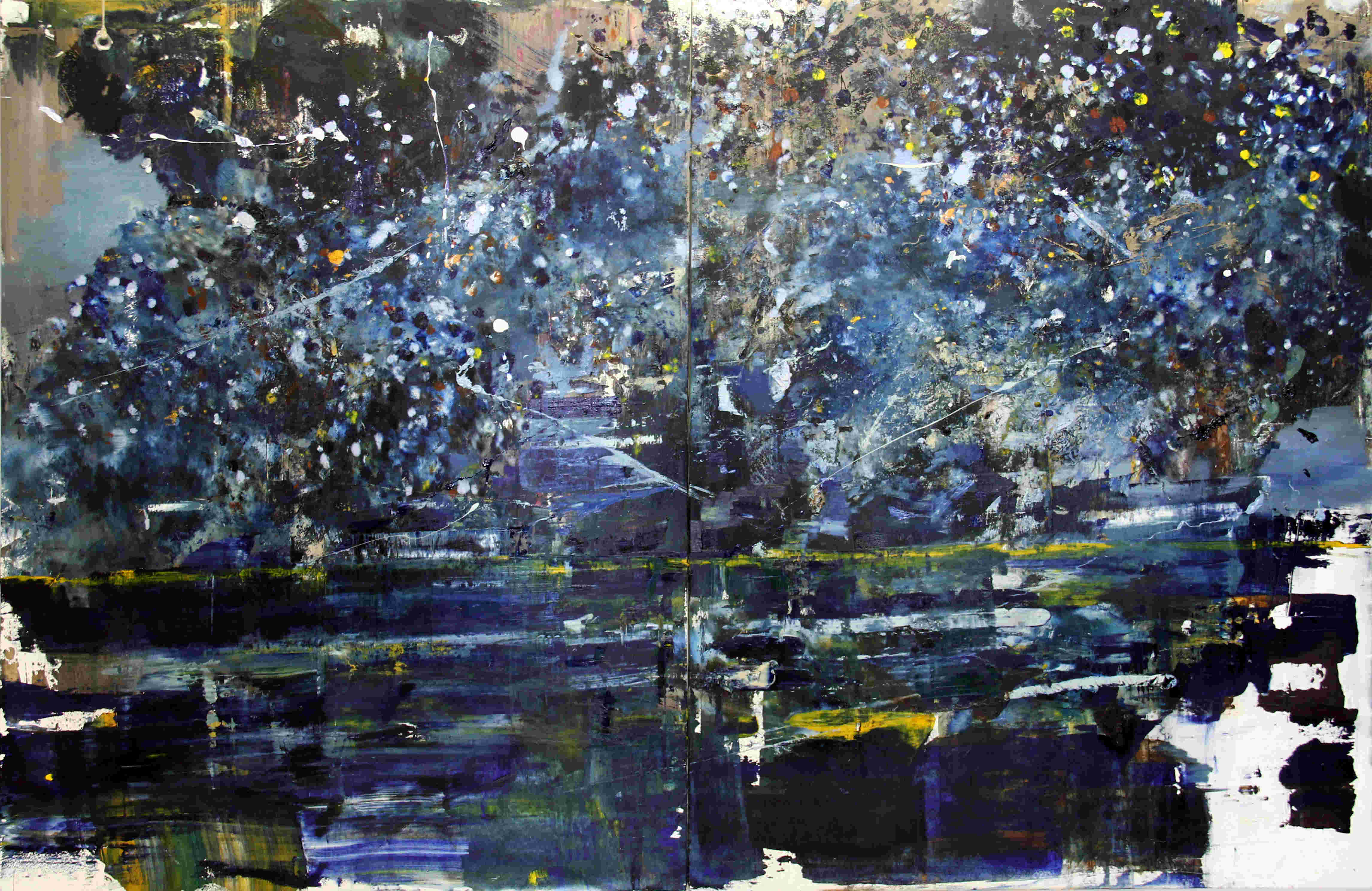 Starry Night In OverThe Rhine, 2014, oil on canvas,48_x72_